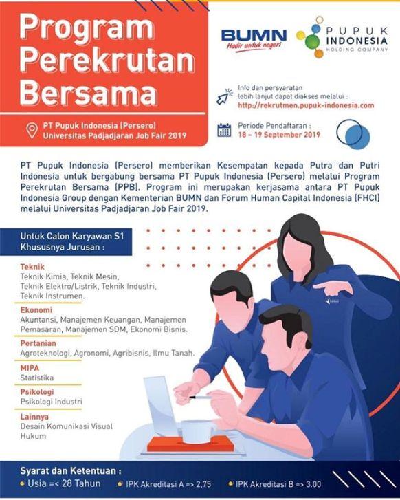 rekrutmen pt pupuk indonesia