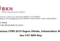 Rekrutmen CPNS 2019 Segera Dibuka