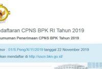 Pengumuman Penerimaan CPNS BPK 2019 [348 Formasi]