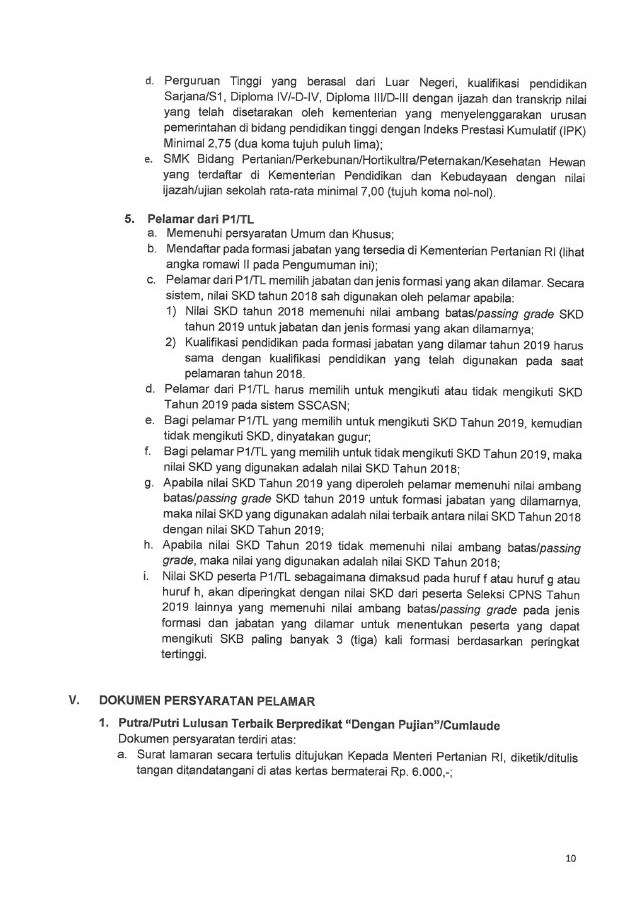 Resmi ! Rekrutmen CPNS Kementerian Pertanian 2019 [520 ...