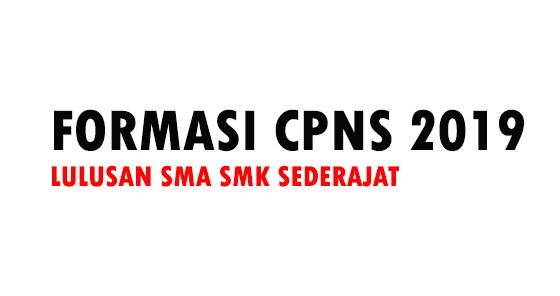 Daftar Instansi CPNS 2019 Lulusan SMA SMK Sederajat