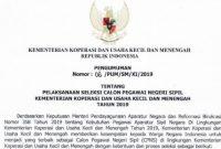 Pengumuman Lowongan CPNS Kementerian Koperasi dan UKM 2019 [98 Formasi]