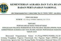 Penerimaan Pegawai PPNPN Kementerian Agraria dan Tata Ruang/Badan Pertanahan Nasional Tahun 2019