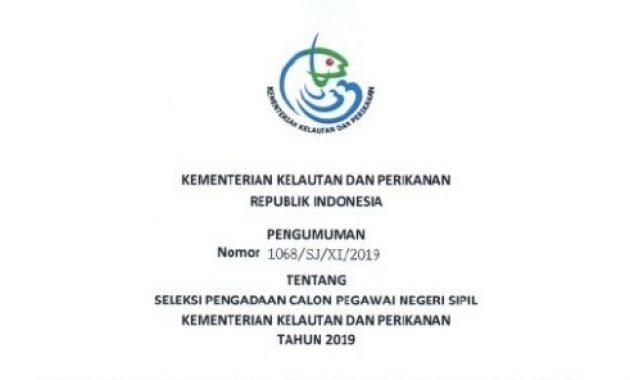 Lowongan CPNS Kementerian Kelautan dan Perikanan Tahun 2019