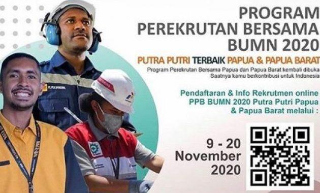 Rekrutmen Bersama BUMN Papua dan Papua Barat Tahun 2020