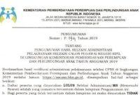 Informasi Hasil Seleksi Administrasi CPNS Kementerian PPPA Tahun 2019
