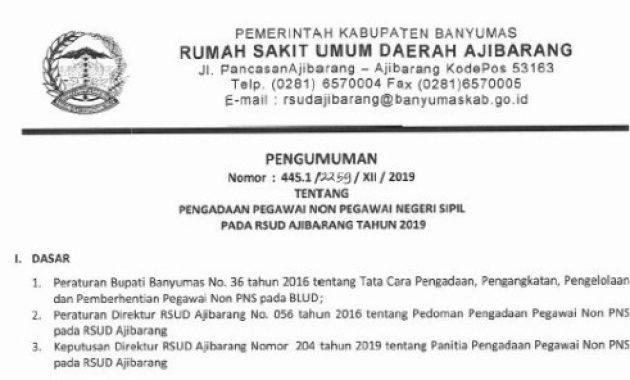 lowongan kerja rsud ajibarang 2019