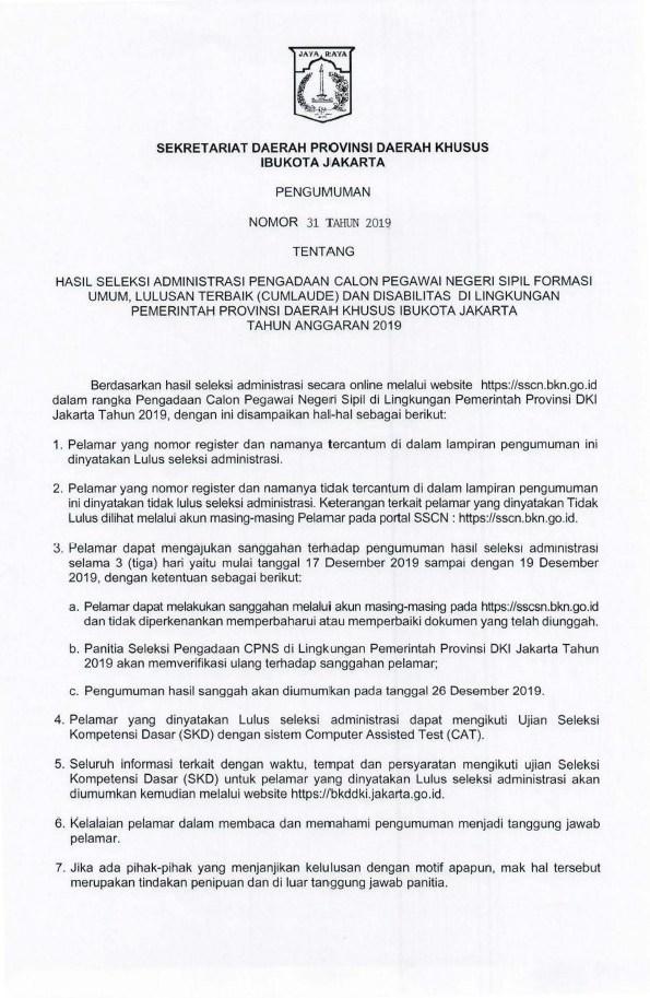 seleksi administrasi cpns dki jakarta 2019