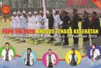 Penerimaan Calon Perwira Prajurit Karir TNI Khusus Tenaga Kesehatan Tahun 2020