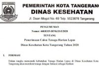 Penerimaan Pegawai Non PNS Dinas Kesehatan Kota Tangerang Tahun 2020