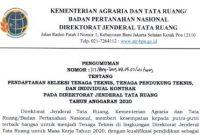 Rekrutmen Tenaga Kontrak Kementerian Agraria dan Tata Ruang Tahun 2020