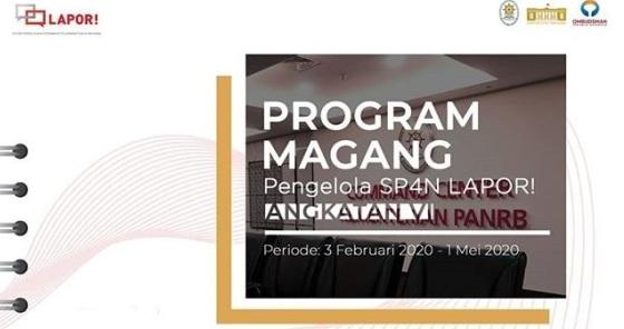 Lowongan Kerja Magang SP4N-LAPOR Kementerian PANRB Tahun 2020