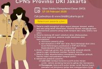 Ketentuan Peserta Ujian SKD CPNS Provinsi DKI Jakarta Tahun 2019/2020