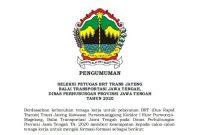 Lowongan Petugas BRT Trans Jateng Minimal SMP SMA SMK D3 S1 Tahun 2020