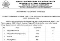 Rekrutmen Pegawai Tidak Tetap PKN STAN Kementerian Keuangan 2020