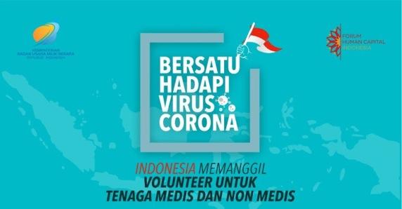 Indonesia Memanggil ! Rekrutmen Volunteer COVID-19 Untuk Tenaga Medis dan Non Medis
