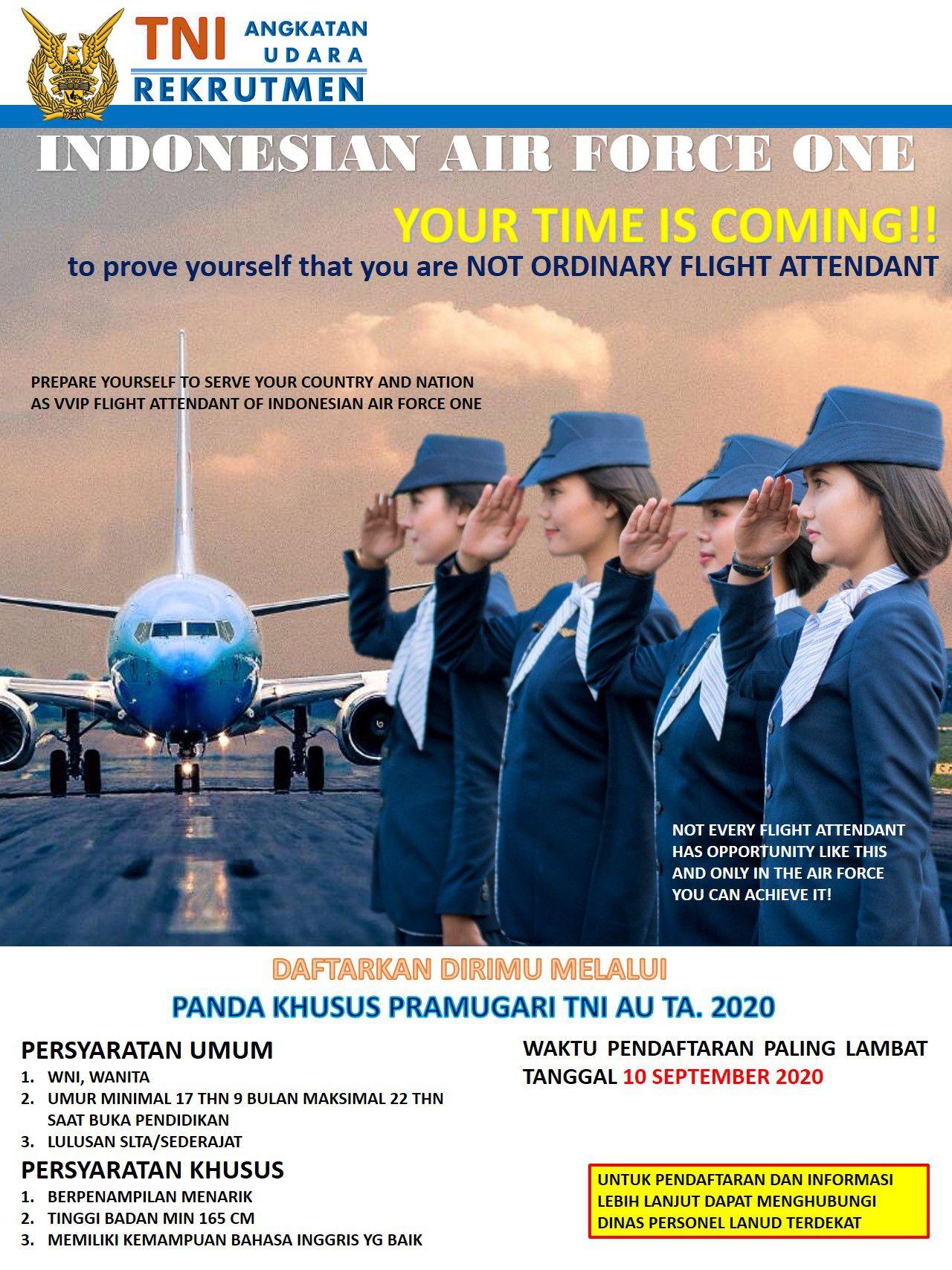 Rekrutmen Calon Panda Khusus TNI Angkatan Udara TA 2020 Minimal SLTA Sederajat