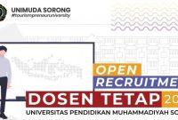 Lowongan Kerja Dosen Tetap Universitas Pendidikan Muhammadiyah Sorong (UNIMUDA)