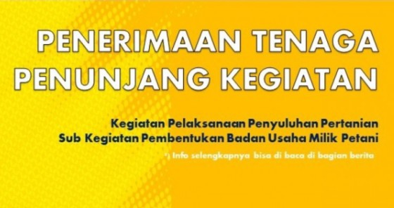 Lowongan Kerja Dinas Pertanian dan Pangan Kabupaten Tahun 2021