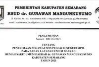 Rekrutmen Pegawai Non PNS BLUD RSUD dr Gunawan Mangunkusumo Tahun 2021