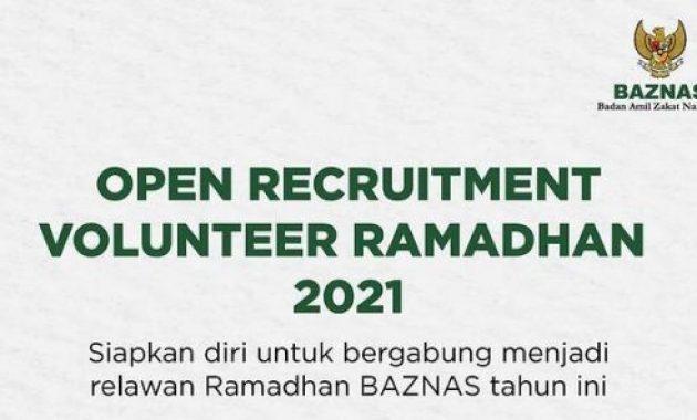 Rekrutmen Volunteer Ramadhan 2021 Badan Amil Zakat Nasional