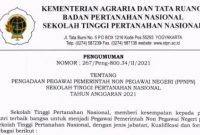 Penerimaan Pegawai PPNPN Sekolah Tinggi Pertanahan Nasional (STPN) Tahun 2021