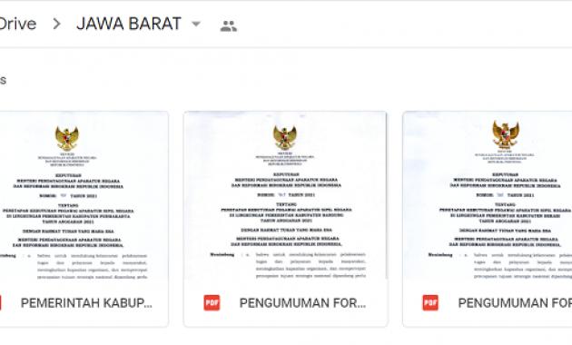 Daftar Rincian Formasi CASN (CPNS & PPPK) 2021 Seluruh Provinsi, Kabupaten dan Kota