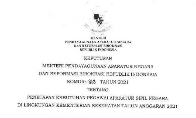 Info Penerimaan CPNS & PPPK Kementerian Kesehatan Tahun 2021 Sebanyak 4.197 Formasi