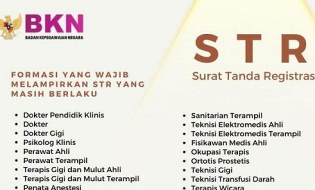 Daftar Formasi CPNS 2021 yang Wajib Melampirkan STR Aktif