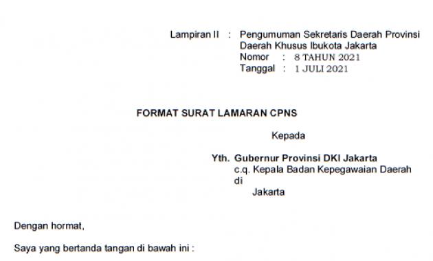 format surat lamaran cpns 201