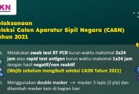 Ketentuan Pelaksanaan Seleksi CASN 2021, Wajib Test PCR / Antigen dan Vaksin?