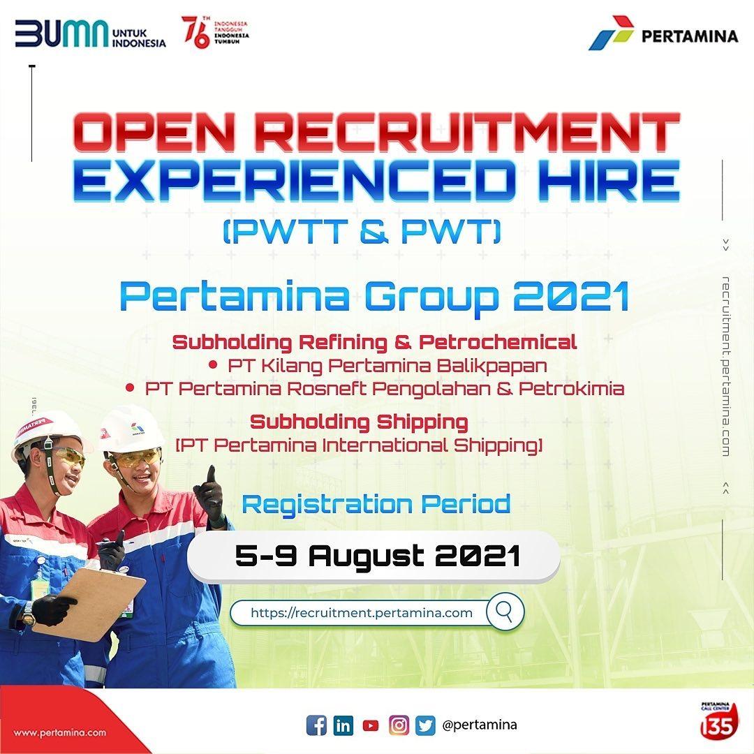 recruitment pertamina