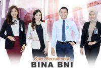 Open Recruitment Bina BNI Pendidikan Minimal SMA - S1 September 2021